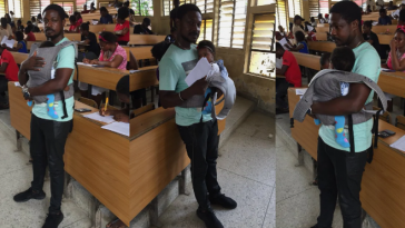 University Of Calabar Lecturer Helps His Student Babysit Her Twins During Exams [Photos] 4