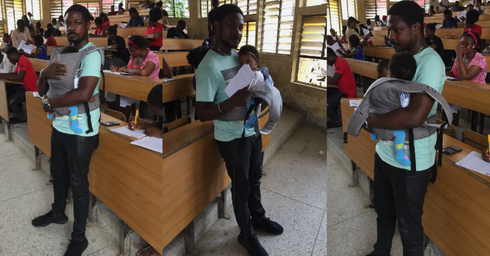 University Of Calabar Lecturer Helps His Student Babysit Her Twins During Exams [Photos] 1