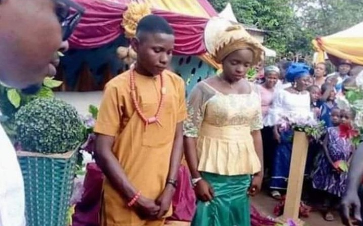 17-Year-Old Boy Marries 16-Year-Old Girlfriend After Pressurizing Parents In Anambra 1