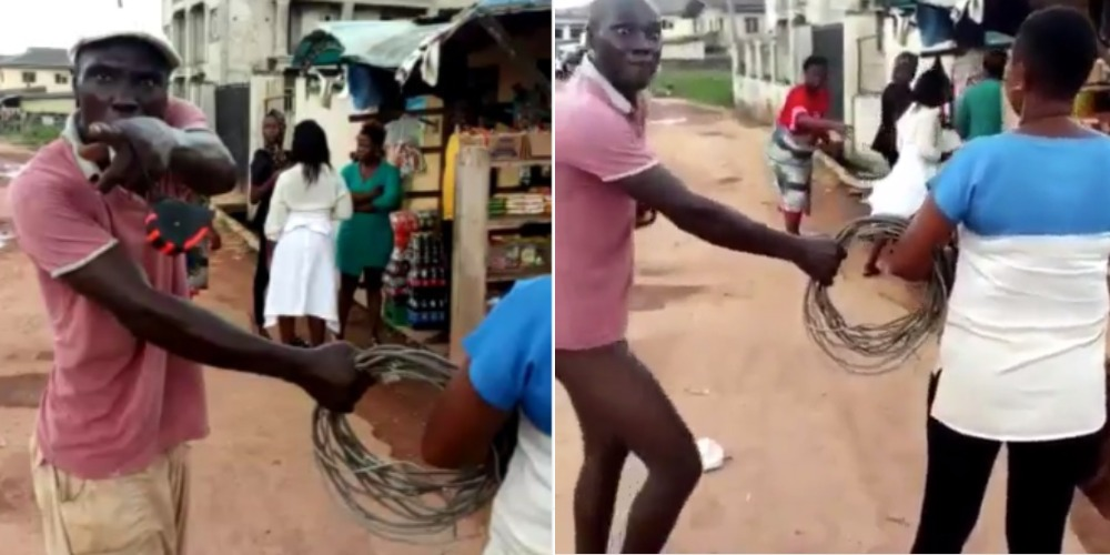 Angry Man Pulls Down His Pants, Threatens To Rape A Female PHCN Staff In Public [Video] 1