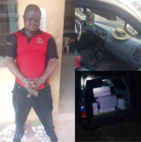 Anglican Church Knight Leads Robbery Gang To Steal Batteries From MTN Mast In Lagos 2