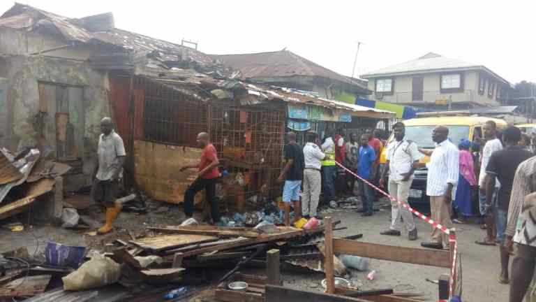 Two children dead, 23 Others Seriously injured In Lagos Gas Explosion 7