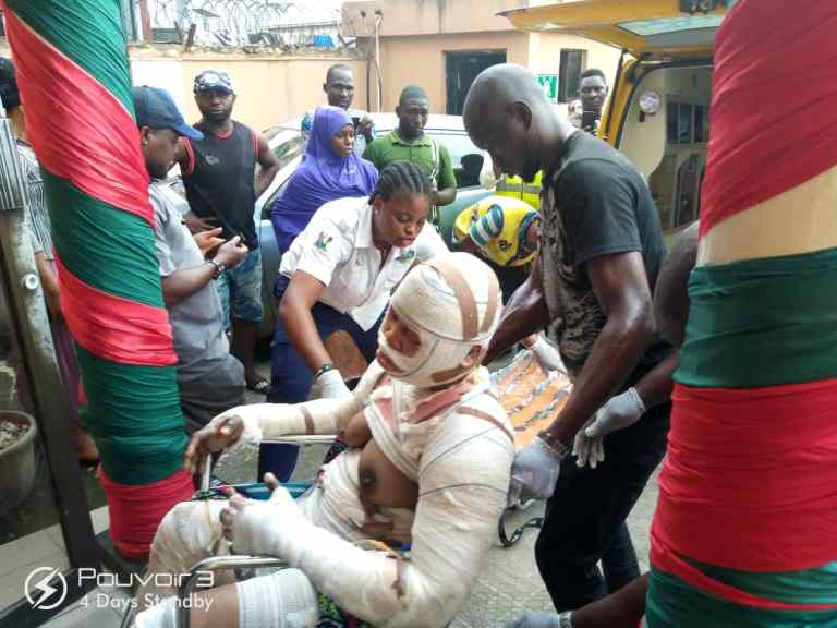 Two children dead, 23 Others Seriously injured In Lagos Gas Explosion 1