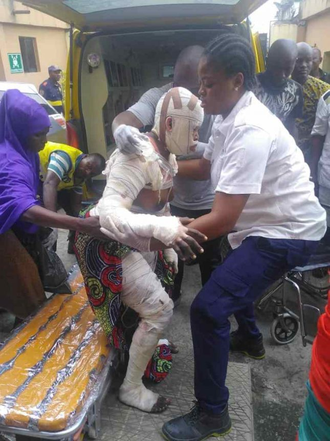 Two children dead, 23 Others Seriously injured In Lagos Gas Explosion 14