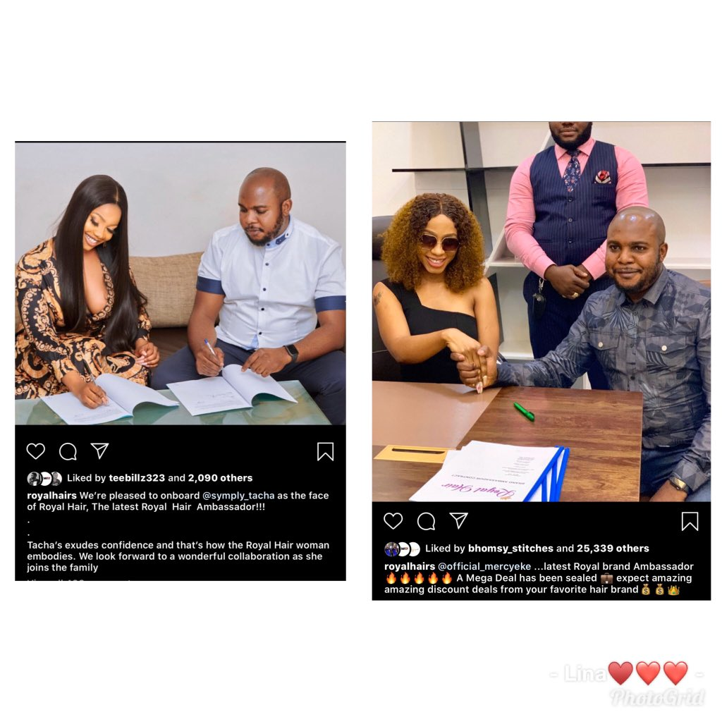 Tacha Bags New Endorsement Deal, Joins Mercy And CeeC As Ambassador For Royal Hair 2