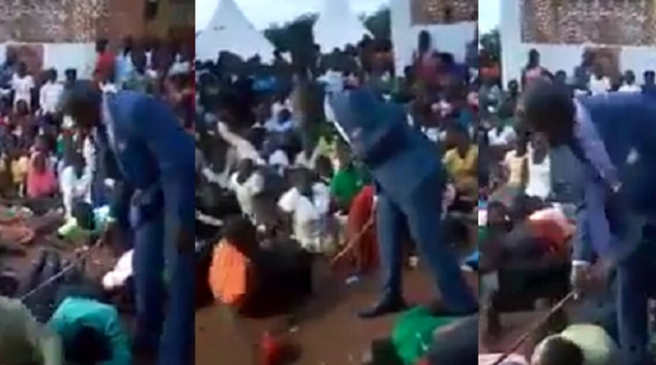 Watch Pastor Flog His Church Members For Not Attending Sunday Service [Video] 1