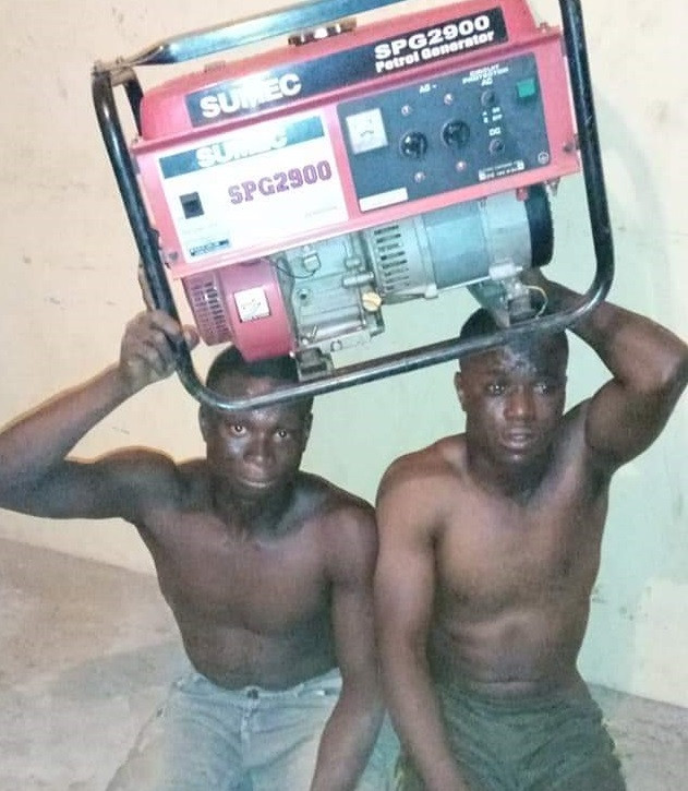 Two Thieves Caught After Stealing And Selling Big Generating Set For N10k In Ondo [Photos] 1