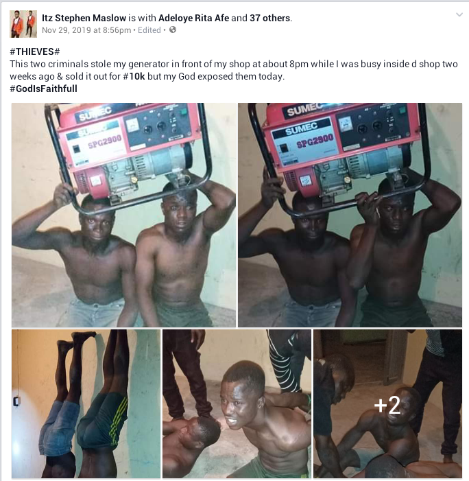 Two Thieves Caught After Stealing And Selling Big Generating Set For N10k In Ondo [Photos] 2