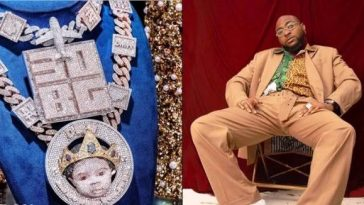 Davido Customizes His Son's Face On New Diamond Necklace Worth N150 Million [Photos] 1