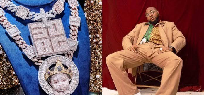 Davido Customizes His Son's Face On New Diamond Necklace Worth N150 Million [Photos] 1