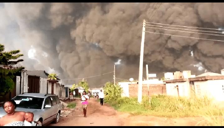 Pipeline Explosion Rocks Gloryland Estate and Diamond Estate Lagos - BREAKING NEWS 1