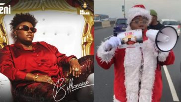 Teni Dresses As 'Father Christmas' To Promote Her Show On Third Mainland Bridge [Video] 3