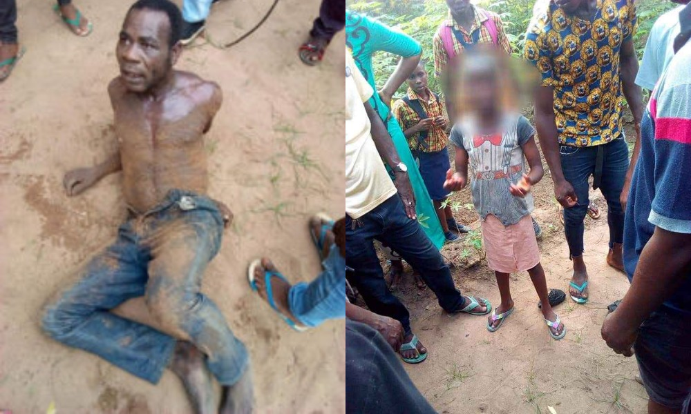 Man Caught Red-Handed Defiling A Little Girl He Lured Inside A Bus In Abia [Photos] 1