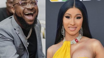 """We Have A Problem"" - Davido Reacts As Cardi B Gives Herself Nigerian Name 'Chioma B' 1"