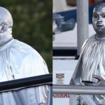 Kanye West Covers His Entire Body From Head-To-Toe With Metallic Silver Paint [Photos/Video] 29