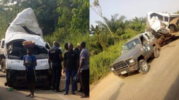18 Passengers Reportedly Dies As Peace Mass Transit Bus Crashes Along Benin-Ore Road 3