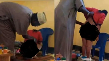 Outrage As Young Lady Is Caught On Camera Cooking Her Vag!na 'Spiritually' At A Herbalist 4