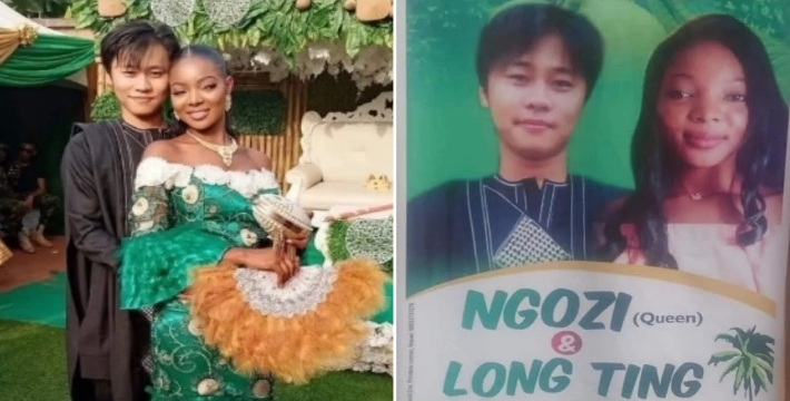 """Nigerian Lady, Ngozi Marries Her Chinese Lover """"Long Ting"""" In Anambra State [Photos] 1"""