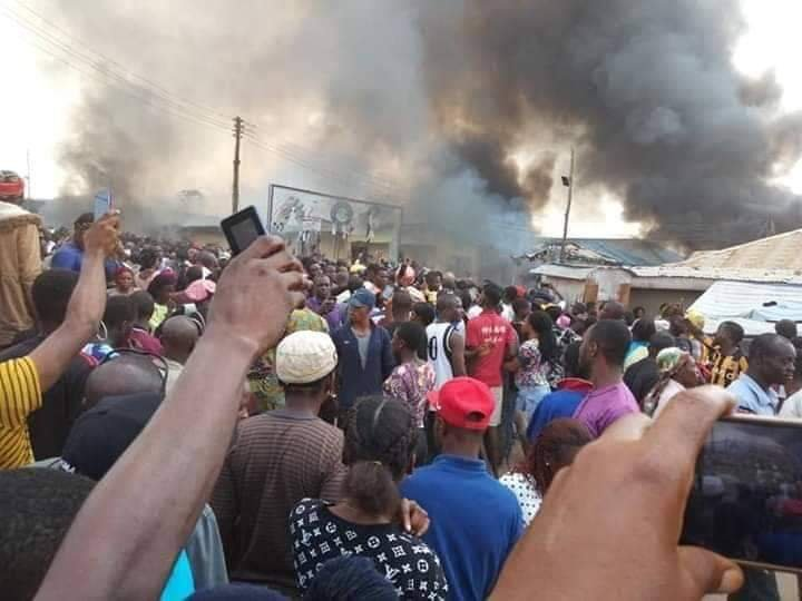 Sotitobire Miracle Center Burnt down as corpse of missing baby is allegedly exhumed at Sotitobire church Akure 2