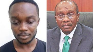 EFCC Arrests Yahoo boy Who Made N4.5m By Impersonating CBN Governor, Godwin Emefiele 4