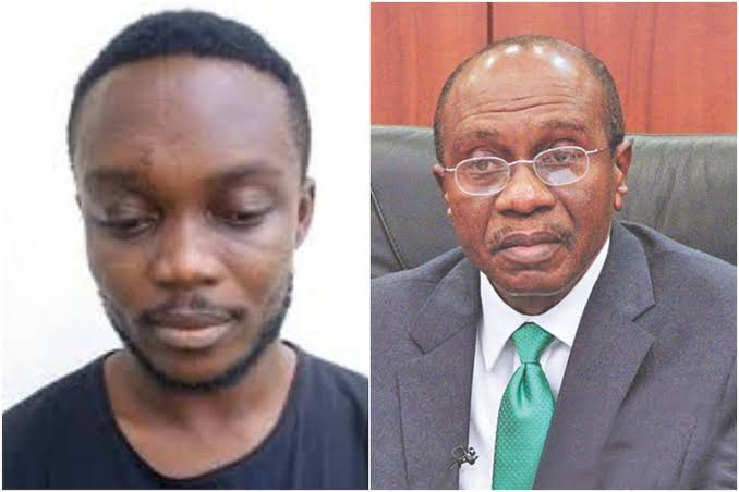 EFCC Arrests Yahoo boy Who Made N4.5m By Impersonating CBN Governor, Godwin Emefiele 1