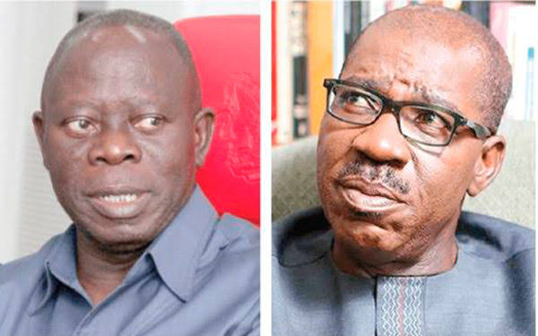 Oshiomhole Rejects 4 Cows, 10 Bags Of Rice Given To Him By Obaseki As Christmas Gifts 1