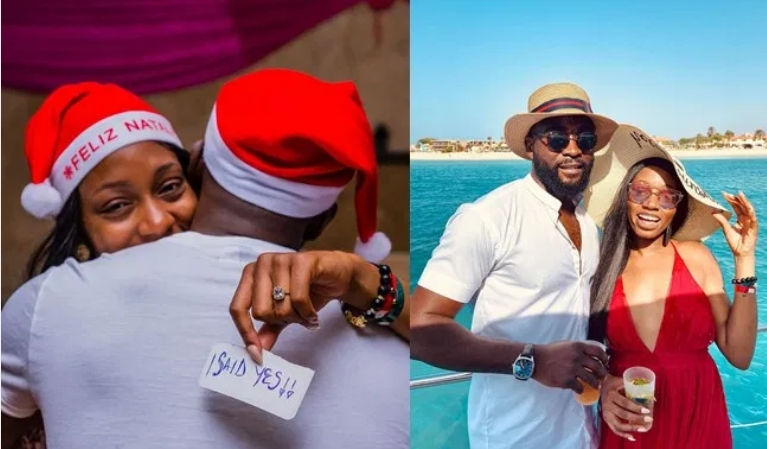 BBNaija 2019 Couple, Khafi And Gedoni Engages On Christmas Day In Cape Verde 1