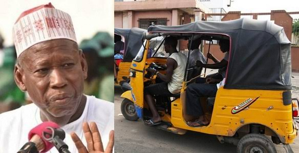 Kano Governor, Abdullahi Ganduje Bans Opposite Genders From Entering Same Tricycle 1