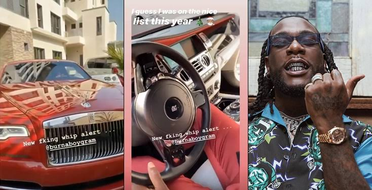 Burna Boy Buys Rolls Royce Worth N125 Million, Weeks After He Acquired A Ferrari [Video] 1