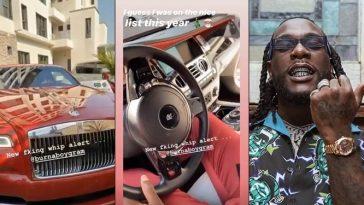 Burna Boy Buys Rolls Royce Worth N125 Million, Weeks After He Acquired A Ferrari [Video] 6