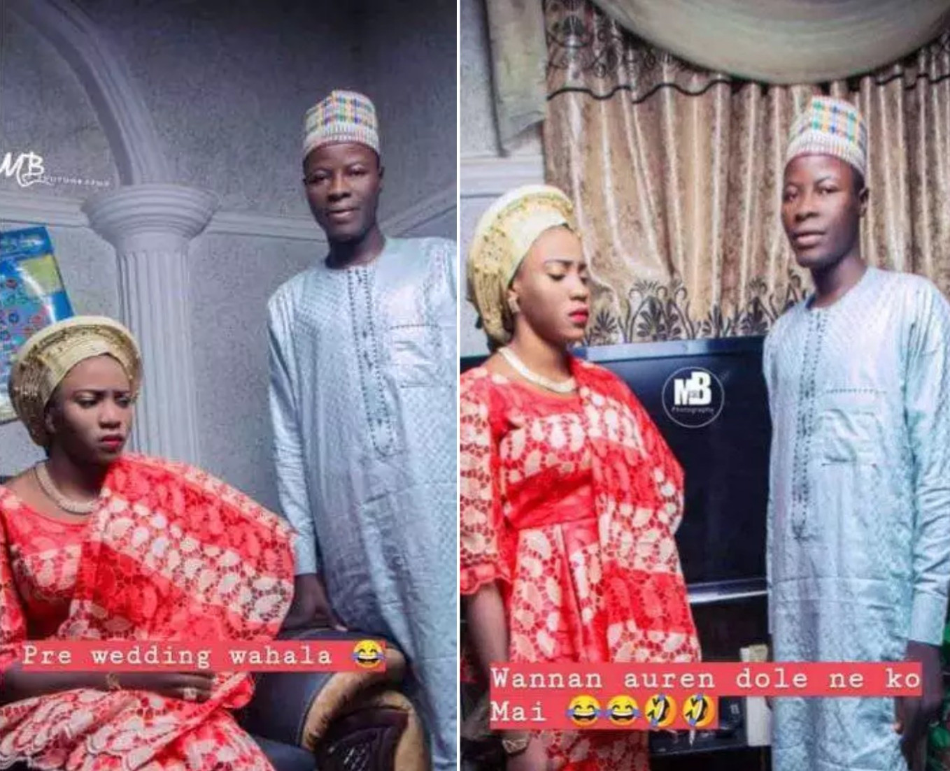 Viral Photos Of Beautiful Bride Looking Very Angry In Her Pre-Wedding Pictures 1