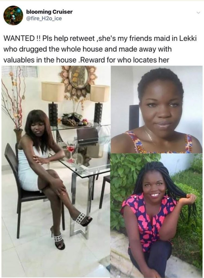 House Help Declared Wanted After Drugging Entire Household And Fleeing With Valuables 2