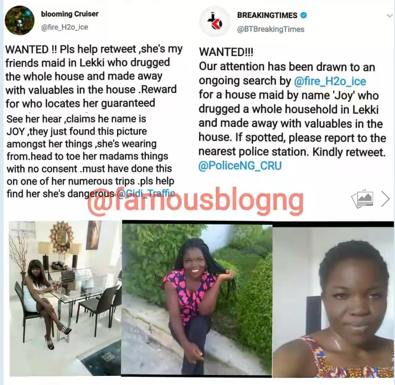 House Help Declared Wanted After Drugging Entire Household And Fleeing With Valuables 4