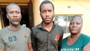 Police Arrests Man Who Butchered His Girlfriend, Eat Her heart With His Mother For Money Ritual 2