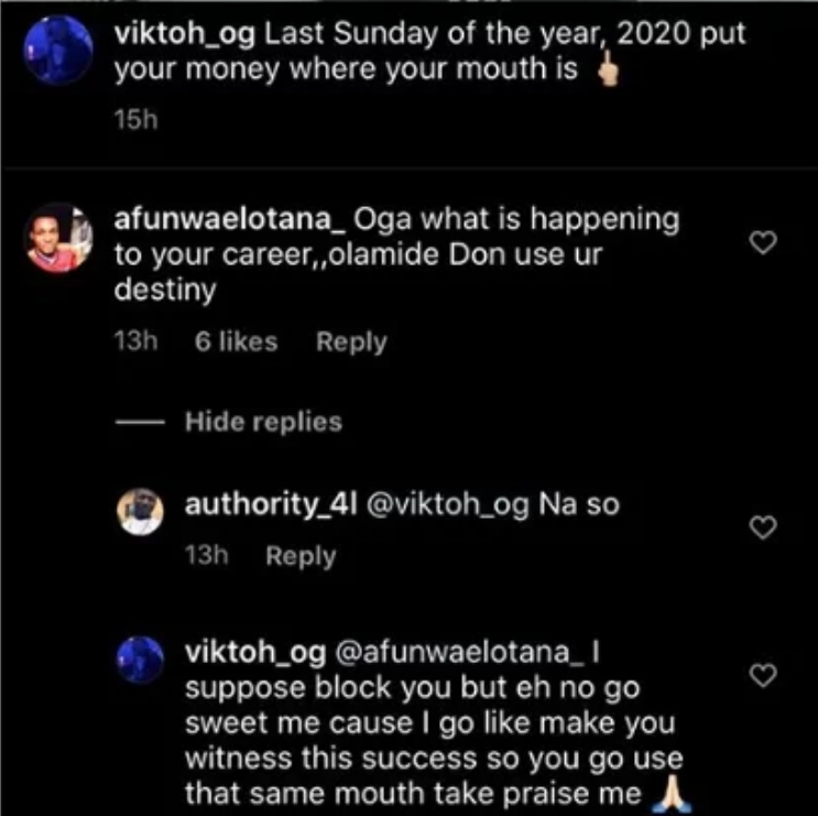 Former YBNL Signee, Viktoh Reacts To Claim That Olamide Used His Destiny For 'Package' 2