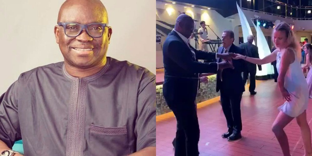 Fayose Dancing With Strange Woman After Permission To Travel Abroad For Medical Treatment [Video] 1