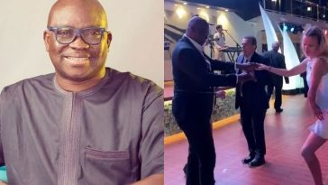 Fayose Dancing With Strange Woman After Permission To Travel Abroad For Medical Treatment [Video] 4