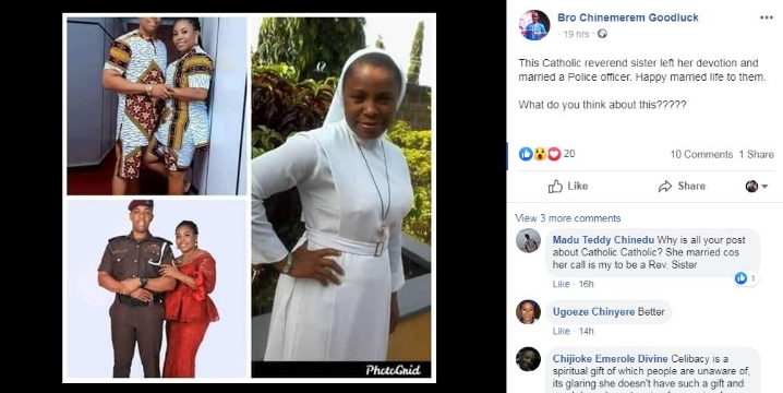 Catholic Reverend Sister Dumps Her Religious Devotion To Marry A Police Officer [Photos] 2