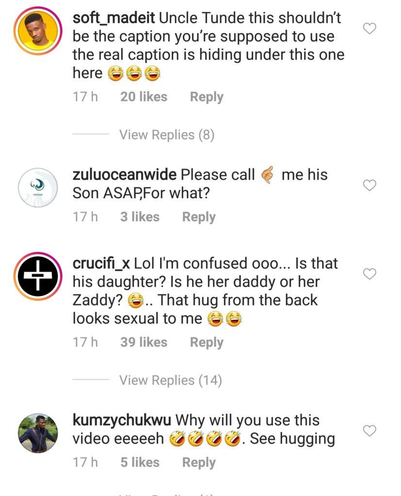 Nigerians React In Shock As 72-Year-Old Pete Edochie Hugs Destiny Etiko From Behind [Video] 3