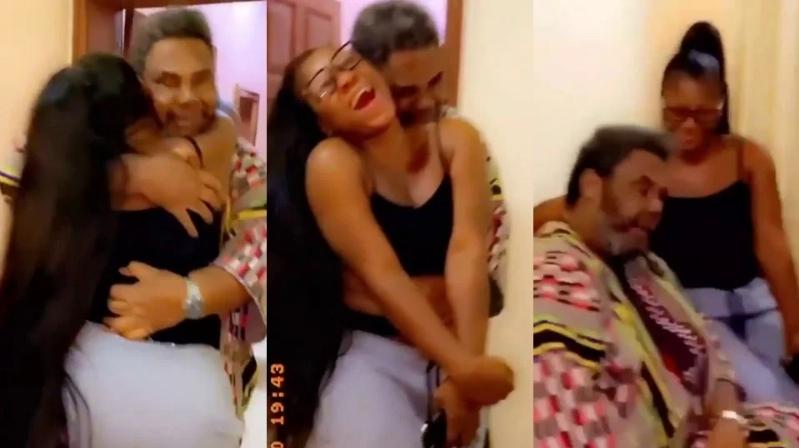 Nigerians React In Shock As 72-Year-Old Pete Edochie Hugs Destiny Etiko From Behind [Video] 1