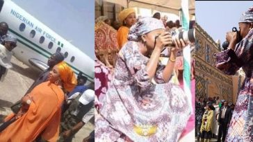 Nigerians Reacts As Buhari's Youngest Daughter Arrives Bauchi In Presidential Jet For Photoshoots 15