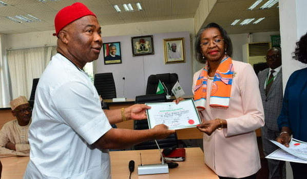 Breaking News: Hope Uzodinma Receives Certificate Of Return As Imo Governor-Elect 1