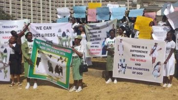 Protesters Threatens To Sue NYSC Over Refusal To Allow Female Corps Members Wear Skirts [Photos] 1