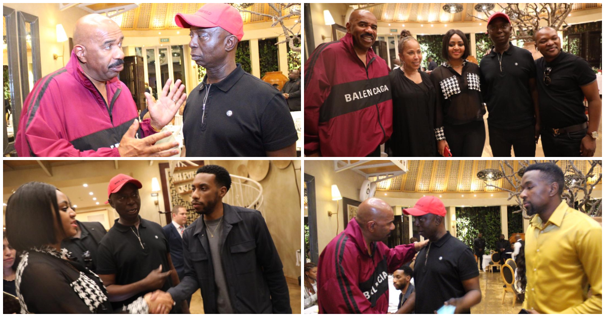 Ned Nwoko And Regina Daniels Spotted With American Comedian, Steve Harvey [Photos] 2