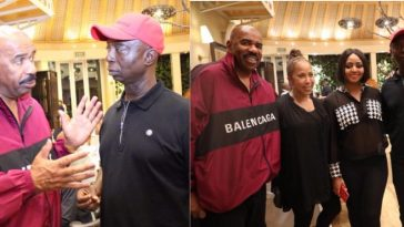 Ned Nwoko And Regina Daniels Spotted With American Comedian, Steve Harvey [Photos] 4