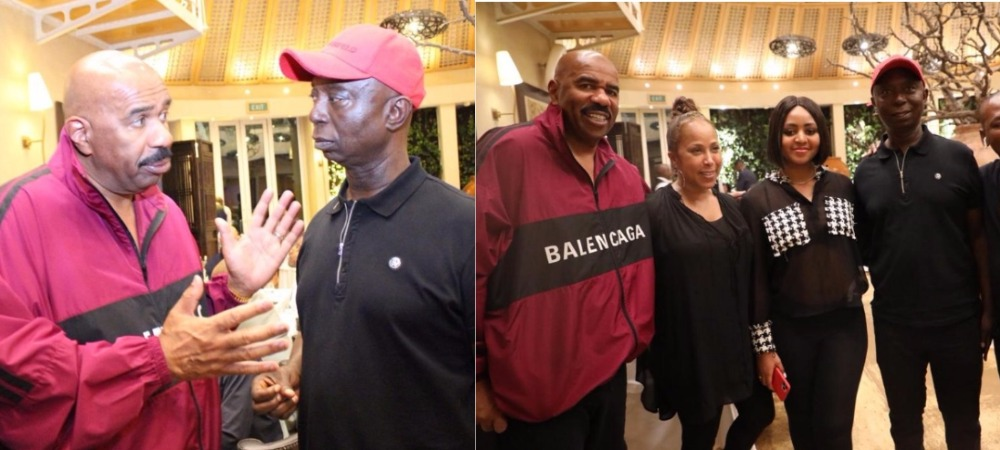 Ned Nwoko And Regina Daniels Spotted With American Comedian, Steve Harvey [Photos] 1