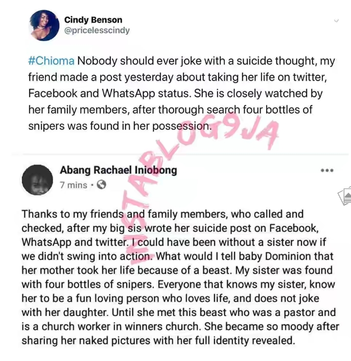 Lady Saved From Committing Suicide After Pastor Shared Her Nude Photos In Church's Whatsapp Group 3