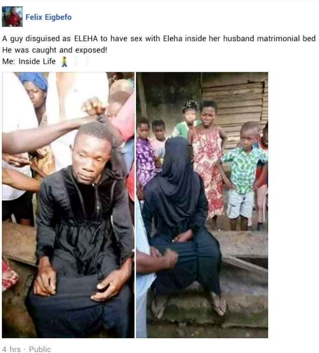 Man Caught Disguised In Hijab To Sleep With A Married Woman In Her Matrimonial Home [Photos] 2