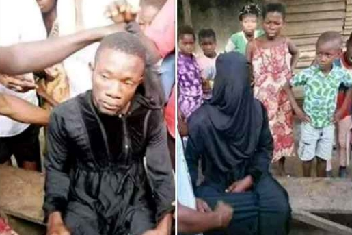 Man Caught Disguised In Hijab To Sleep With A Married Woman In Her Matrimonial Home [Photos] 1