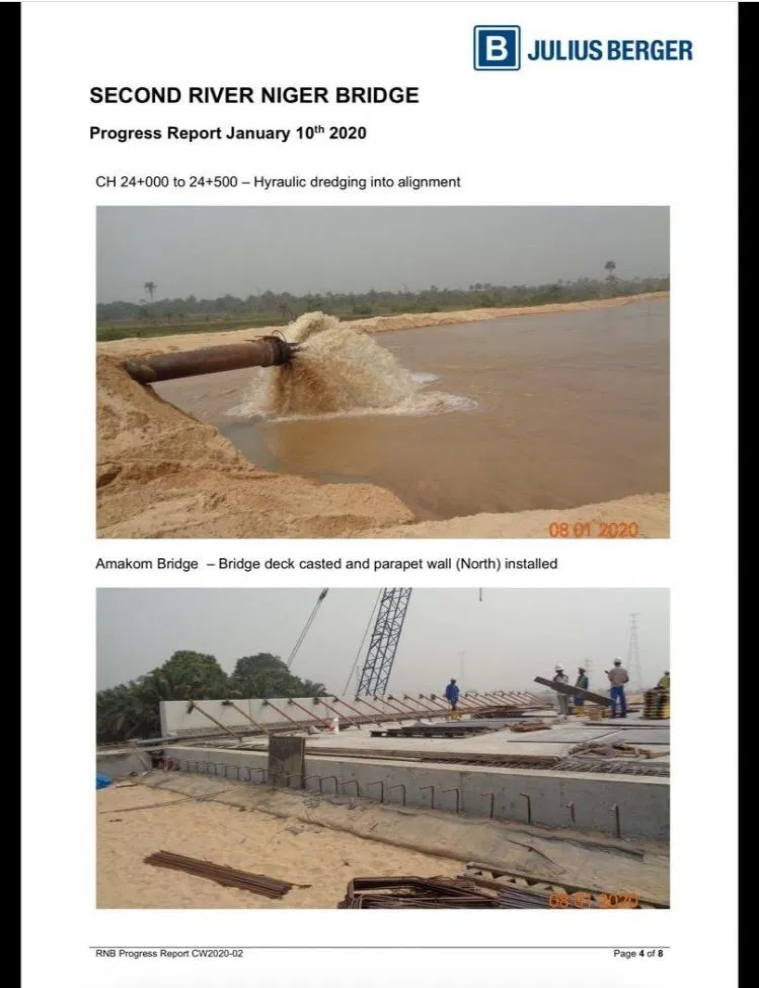 PHOTOS: Julius Berger Releases Fresh Images And Report On Progress Of Second Niger Bridge 5